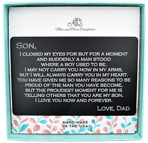 Amazon com: Custom Wallet Card For Son, Graduation Gift