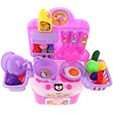 Jili Online Children Electronic Simulation Kitchen Cookware Music Light Toys Set Musical Cooking Rol