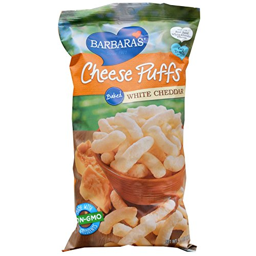 Barbara's Bakery, Cheese Puffs Baked, White Cheddar, 5.5 oz(Pack of 2)