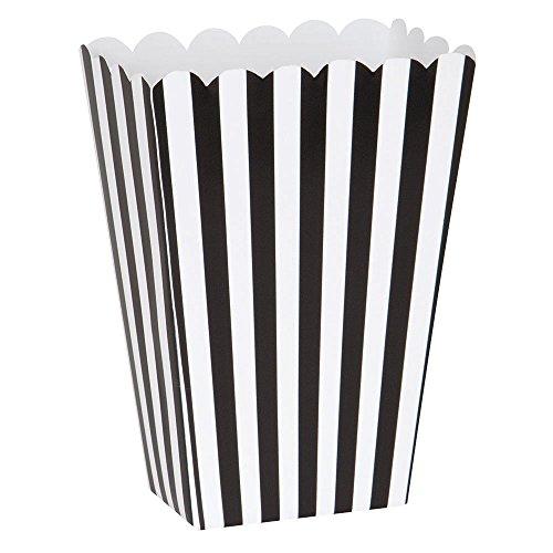 Small Black White Striped Popcorn