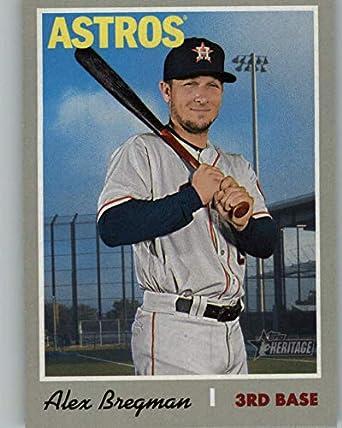 28b220678bb 2019 Topps Heritage Baseball #424 Alex Bregman SP Houston Astros Short  Print MLB Trading Card