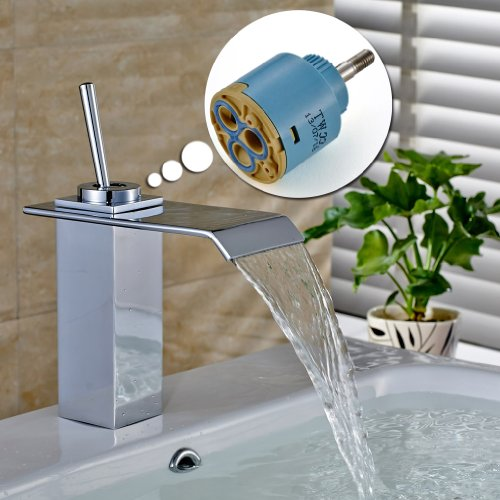 Auralum Faucet Ceramic Cartridge 35mm Valve Disc for Replacement Single Handle Faucet (Ceramic Handle Single)