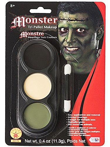 Frankenstein's Bride Halloween Makeup (Mehron Makeup Tri-Color Halloween Makeup Palette)