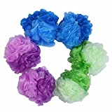 Image of Loofah Bath and Shower Sponge 6-Pack (50g/pcs), Mesh Pouf Exfoliating Bath sponge Body Scrubber Puff