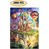 Cool Wall Decal Sticker Vinyl Jigsaw Puzzles 1000 Pieces Rainbow Castle Artwork Art for Adult Grown Up Puzzles Large Size Toy Educational Games Gift Jigsaw Puzzle Jigsaw Puzzle 1000 PCS (rainbow)