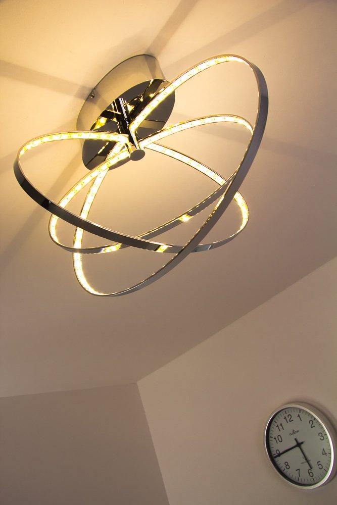 LED Plafoniera Lampada da Soffitto Design Moderno Anelli Metallo ...