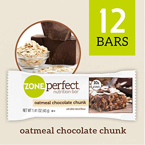 ZonePerfect Nutrition Snack Bars, Oatmeal Chocolate Chunk, 1.41oz, (12 Count)