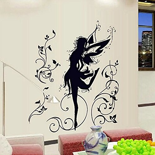 [ElEling Removable Vinyl Black Wall Sticker Lovely Elf Dancing For Home Decoration Art Wall Decals Living Room Bedroom] (Easy Homemade Panda Costumes)