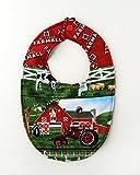 Farmall Tractor Baby Bib, Reversible