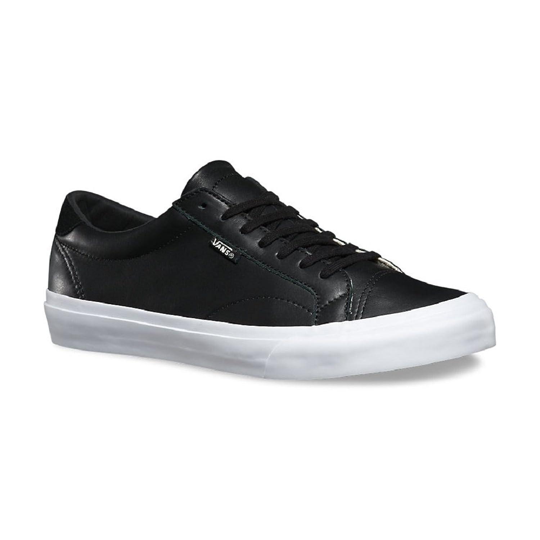 vans leather shoes black