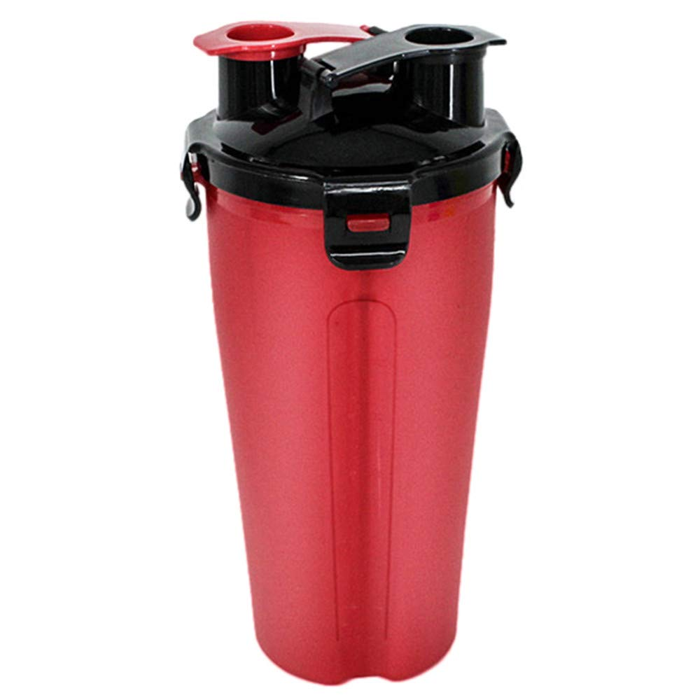 Glumes Dog Water Bottle for Walking and Food Container 2 in 1 Water Dispenser Portable Dog Cat Travel Water Drink Bottle Bowl Dispenser Feeder Dogs Outdoor Drinking Cup