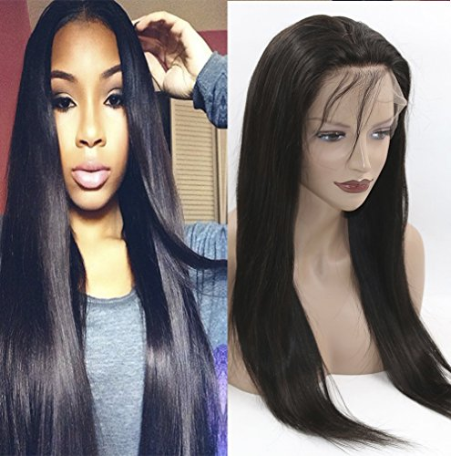 Fantasy Beauty Pre Pucked 360 Lace Frontal Wig 150% Density Silky Straight Brazilian Remy Human Hair 360 Frontal Lace Wigs with Baby Hair for Black Women (18 Inch 150 Density) (Wig Fantasy Girl)