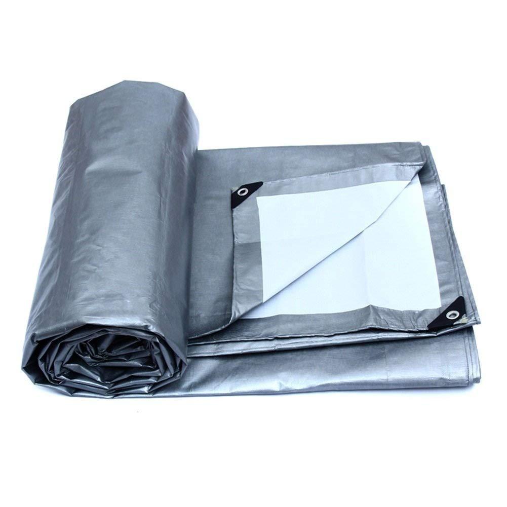 ターポリン アイレット付き防雨防水シート厚みのある絶縁タープシート防水小屋布日焼け止めオーニング - 175g /m²、シルバー+ホワイト (サイズ さいず : 10mx8m) B07S51P1XD  10mx8m