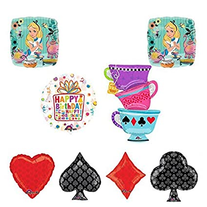 Amazon.com: Alice in Wonderland Tea Party Taza de té juego ...
