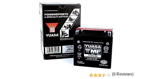 Bater/ía Yuasa YTX12-BS sin mantenimiento WC