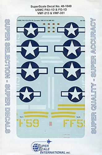 Superscale Decals 1 : 48 USMC f4u-1d fg-1d vmf-213 vmf-351 # 48 – 1049