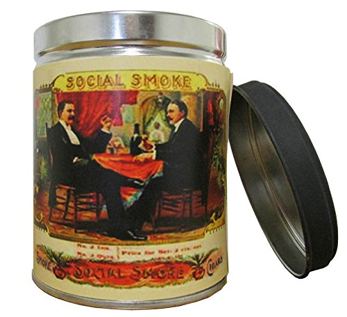 Our Own Candle Company Smoke Eliminator Scented Candle in 13 Ounce Tin with a Vintage Social Smoke Label ()