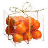 4''Hx4''Wx4''L Artificial Boxed Assorted Orange -2 Tone Green (pack of 12)