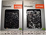 "Stihl 2 Pack 26RM3 68 Drive Links Rapid Micro Chainsaw Chain 18"" .325 Pitch .063 Gauge for MS 250"