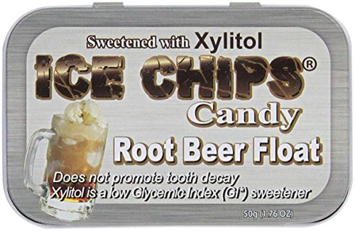 ICE CHIPS Candy Root Beer Float Candy, 1.76 Ounce (Free Lollipop Sugar)
