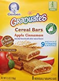 Gerber Graduates Cereal Bars APPLE CINNAMON - 5.5oz. (Pack of 4)