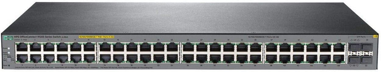 HP OfficeConnect 1920S 48G 4SFP PPoE+ 370W Switch (Renewed)