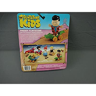 Flintstone Kids Freddy Action Figure w Prehistoric Alligator Skateboard Coleco: Toys & Games
