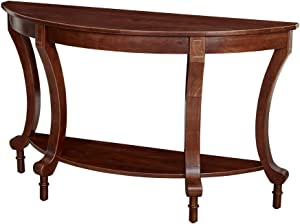 Amazon Brand – Ravenna Home Traditional Solid Pine End Table, 28'' H, Espresso Finish