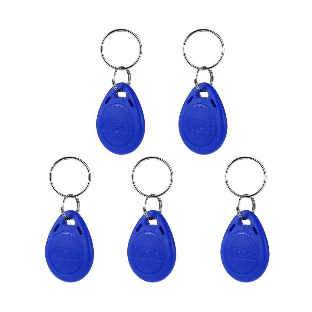 5pcs Llavero de Proximidad Programable Color Azul 125kHz RFID ID Card Impermeable