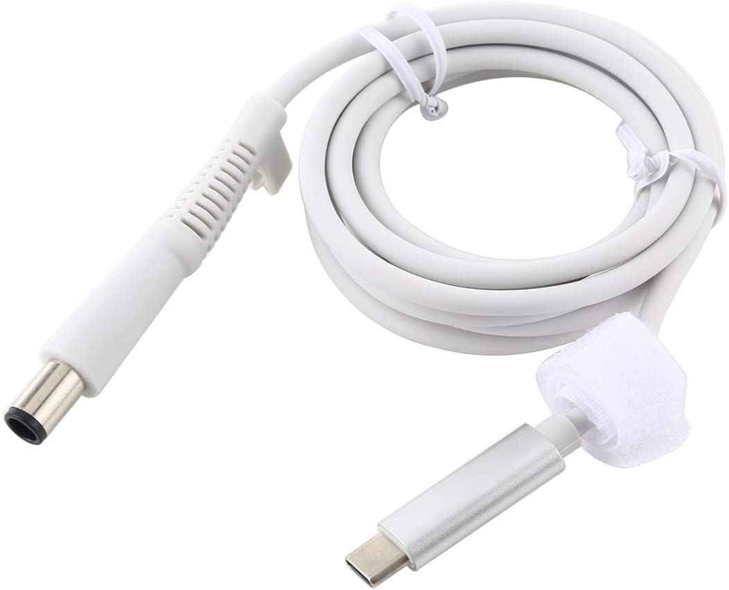 Color : White About 1.5m Durable USB-C//Type-C to 7.4 x 0.6mm Laptop Power Charging Cable Cable Length