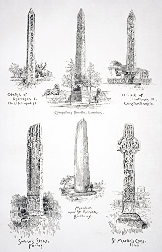 (Posterazzi Famous Monoliths At Heliopolis London Istanbul Forres Saint Renan And Iona From The Modern Cyclopedia Vol Vi 1903 Poster Print (11 x 18))