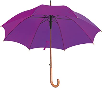 CLASSIC Automatic Umbrella with WOODEN Crook Handle