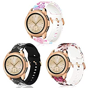 KOREDA Compatible with Samsung Galaxy Watch 42mm/Galaxy Watch Active 2 40mm 44mm/Galaxy Watch 3 41mm Bands Sets, 20mm… Smartwatch Bands