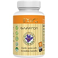 EXIR Saffron + Saffron Extract Dietary Supplements 180-Tablets | The worlds most exotic spice is the most beneficial