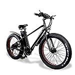 51gksOzQVDL. SS150 Bici Elettrica Fat Bike Uomo da Città/Mountain, 26 Pollici 750W 48V 20Ah Batteria Shimano a 7 velocità Freni a Doppio Disco