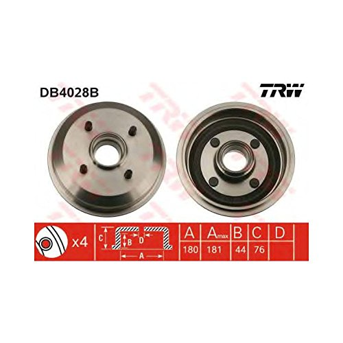 TRW DB4028B Brake Drums: