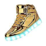 Kids High Top Usb Charging Led Shoes Flashing Fashion Sneakers Kgold34 | amazon.com