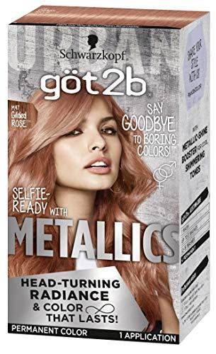 Got2b Metallics Permanent Head-Turning Radiance Hair Color, M97 Gilded Rose