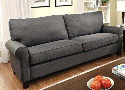 Furniture of America Levine Classic Sofa, Gray