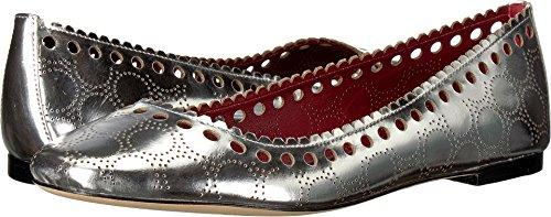 Diane von Furstenberg Women's Corolla Flat Silver 7 B US