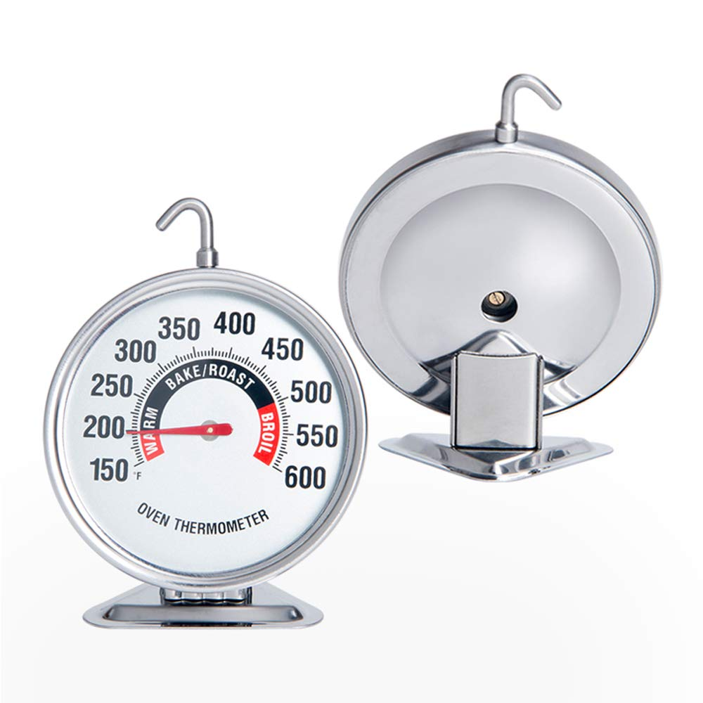 Oven Thermometer Extra Large 3-Inch Dial Oven Thermometer with Hook and Panel Base Hang or Stand in Oven Accurately Monitoring 150℉ to 600℉ for Professional Home Kitchen Cooking by defull