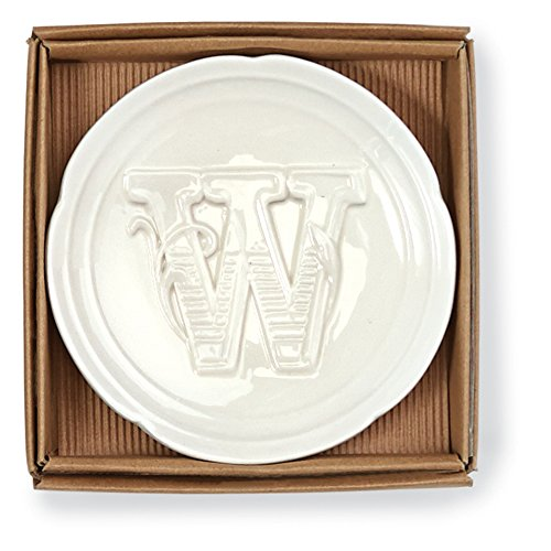 Mud Pie Boxed Initial Accessory Dish-W