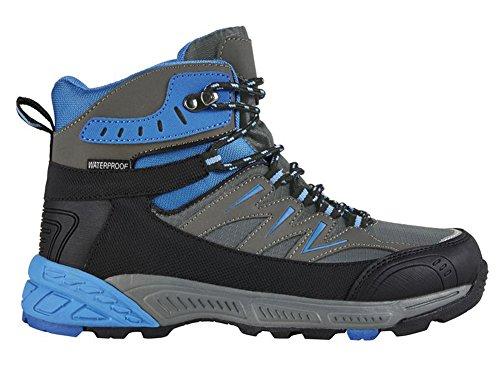 Damen Trekkingschuhe Wanderstiefel Trekkingstiefel Blau-Grau-Schwarz