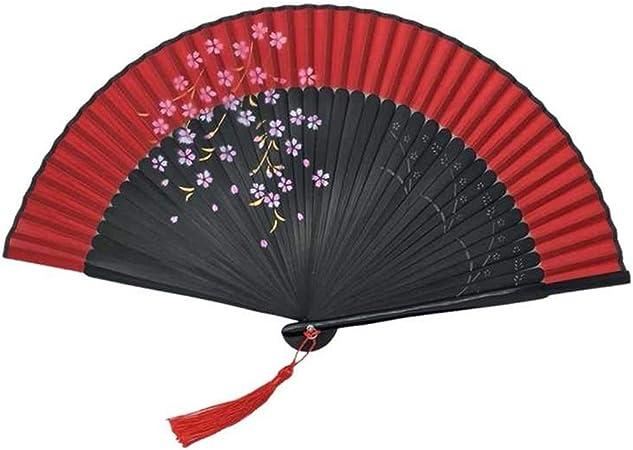 Abanico Plegable Ventilador Plegable Impresión de Sakura ...