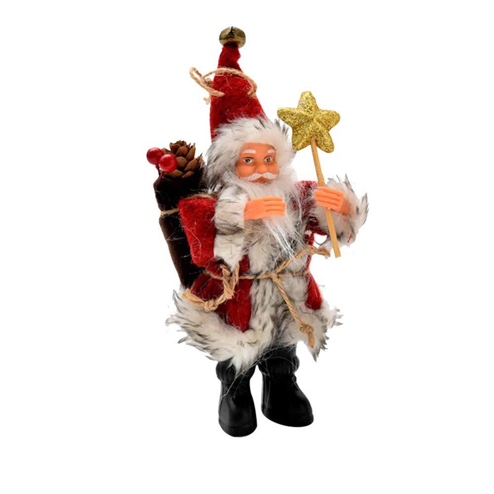 Lovewe Christmas Santa Claus Hanging,Christmas Tree Decor,Candy Bag Ornaments,Xmas Decor,Santa Claus Party Decor (Red, S)