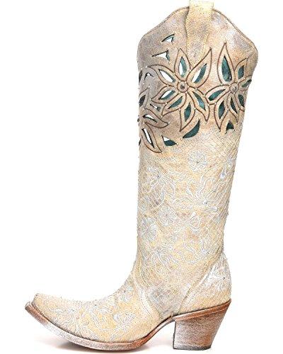 Silver Boots Corral Beige Womens C3346 8RIwqqxHX