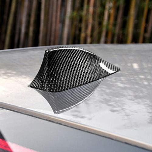 SENLINSQ カーボンファイバールーフシャークフィンアンテナカバートリム、BMW 5 7Series F10 F11 F01 F02用