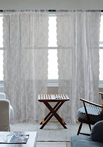 ative Curtain Panels For Bedroom, Living Room, Guest Room, or Formal Sitting Areas, Light & Airy To Filter Sunlight Into Room, (Set of 2, 50 x 84