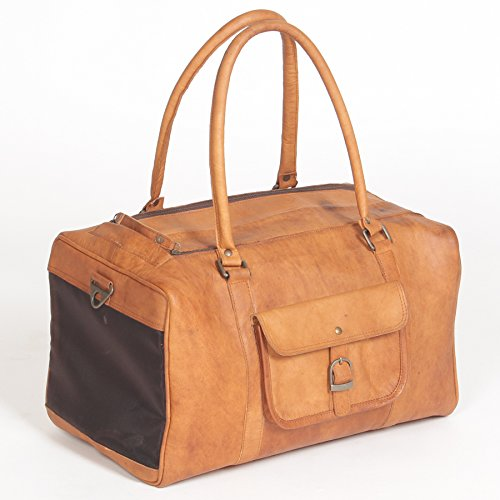 Pet Deluxe Travel Carrier – Genuine Tan Leather by Dogstuff Depot (Image #2)