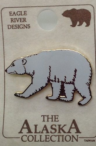 Shaped Pin Hat (Alaska Quality Icon Map Shaped Hat Pin Collectible Polar Bear)